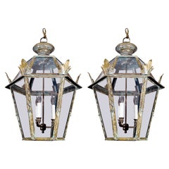 Pair of Italian Copper Lanterns