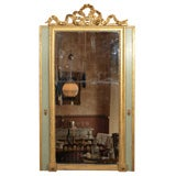 Louis XVI Painted and Gilded Mirror with Ribbon Decoration