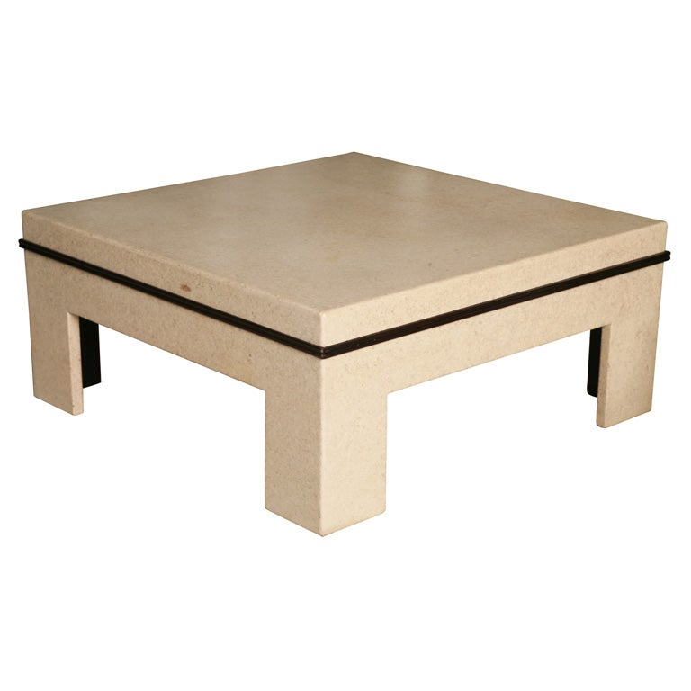 Paul Frankl Cork Coffee Table With Original Label At 1stdibs