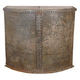 Riveted bin console table
