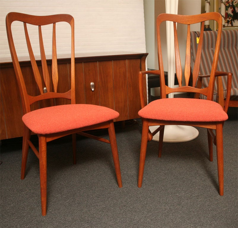 four niels koefoed danish teak dining chairs for sale at 1stdibs