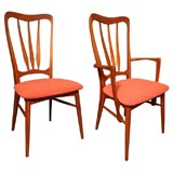 Four Niels Koefoed Danish Teak Dining Chairs