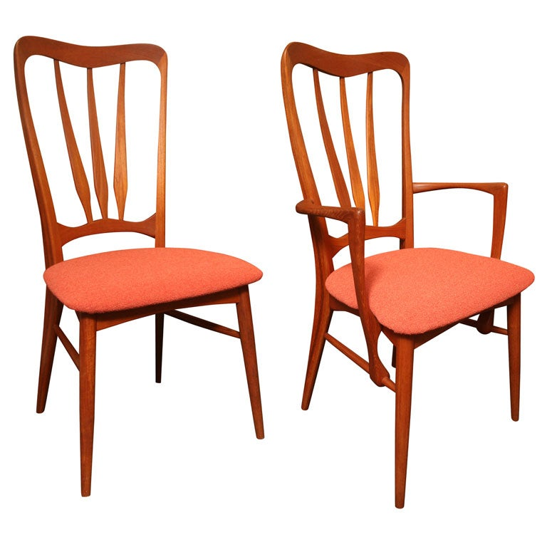 Lovely Four Niels Koefoed Danish Teak Dining Chairs 1