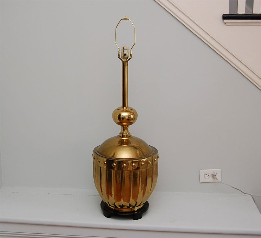 Large Brass Table Lamp by Stiffel 2