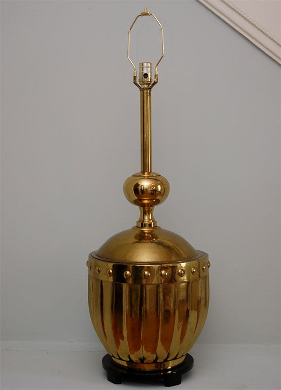 Large Brass Table Lamp by Stiffel 3