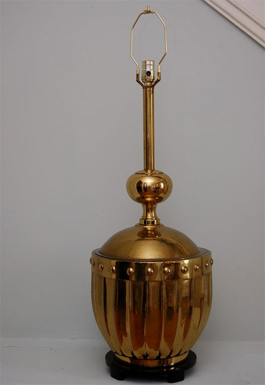 Large Brass Table Lamp by Stiffel 4
