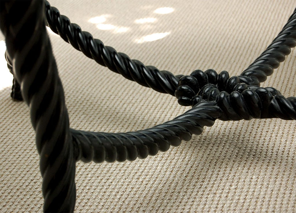 "Ebonized ""Rope-Carved"" Coffee Table 9"