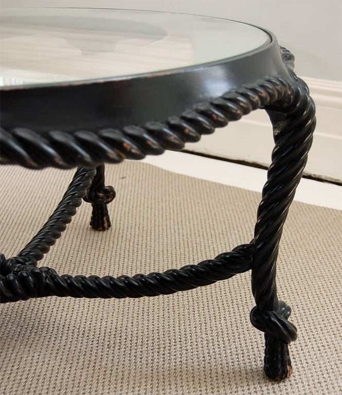 "Ebonized ""Rope-Carved"" Coffee Table 10"