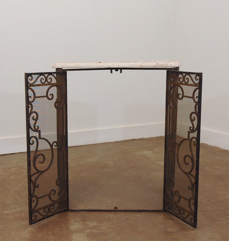 french art nouveau console table at 1stdibs. Black Bedroom Furniture Sets. Home Design Ideas