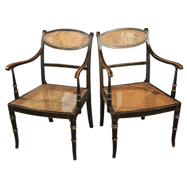 Pair english elbow chairs at 1stdibs for Outdoor furniture quad cities