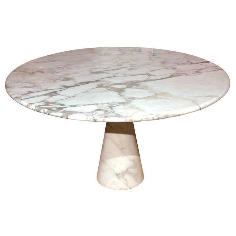 A Italian Carrera Marble Dining Table By Angelo Mangiarotti At 1stdibs