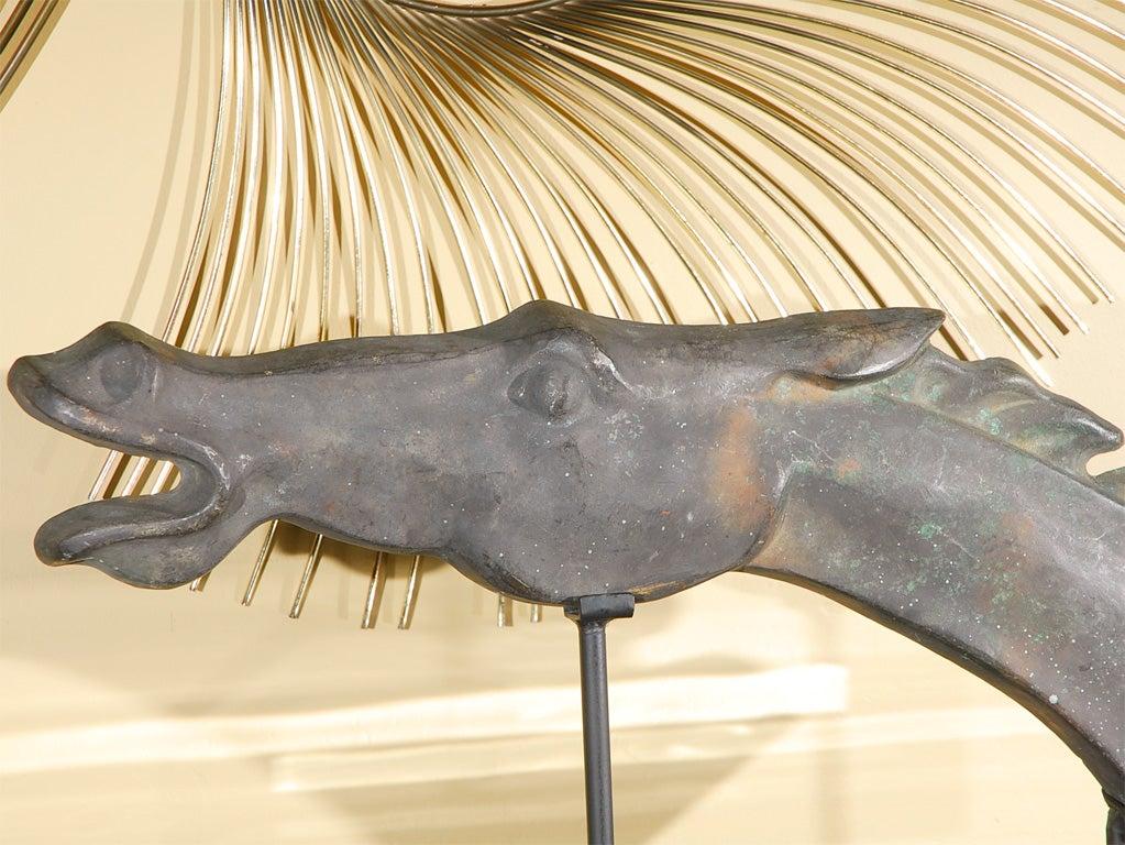 Mid-Century Modern Cast Iron Horse Head Sculpture For Sale