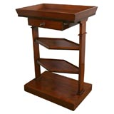 Three-tiered Charles X French mahogany tray-top side table