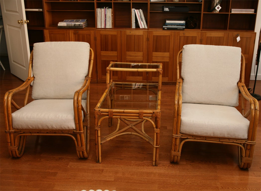 Rattan Conversation Set At 1stdibs