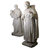 Pair of Late 18th Century Stone Statues from a Monastery in Northern France
