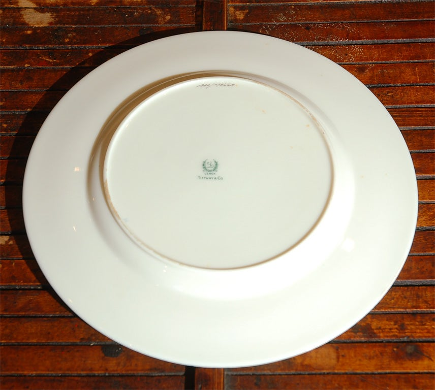 Set Of 6 Tiffany Dinner Plates For Sale At 1stdibs