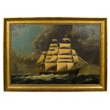 "William Pierce Stubbs Oil on Canvas of Clipper Ship ""Seahorse"""