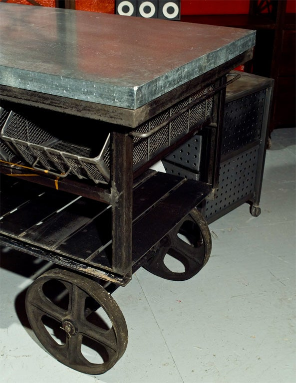 vintage factory station cart at 1stdibs
