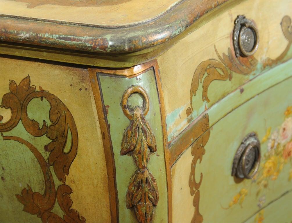 Louis XV 19th Century Venetian Painted Commode