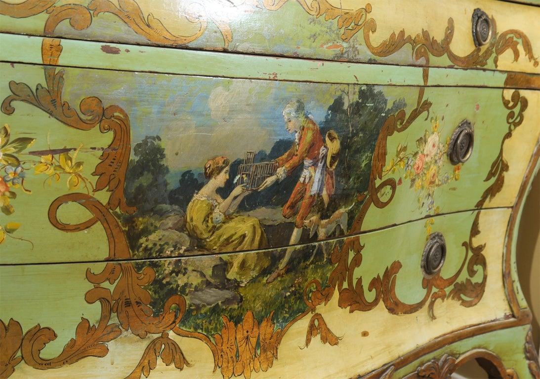 Italian 19th Century Venetian Painted Commode