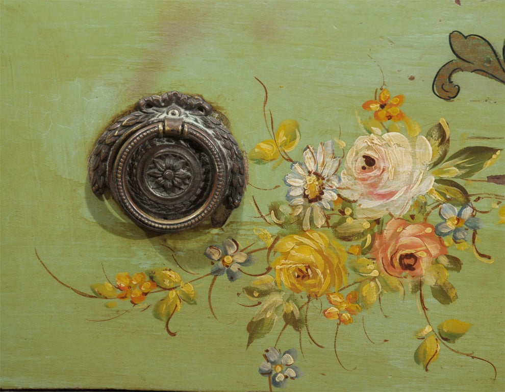 Hand-Painted 19th Century Venetian Painted Commode