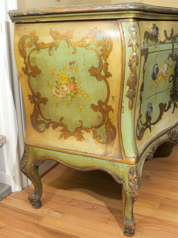 Giltwood 19th Century Venetian Painted Commode