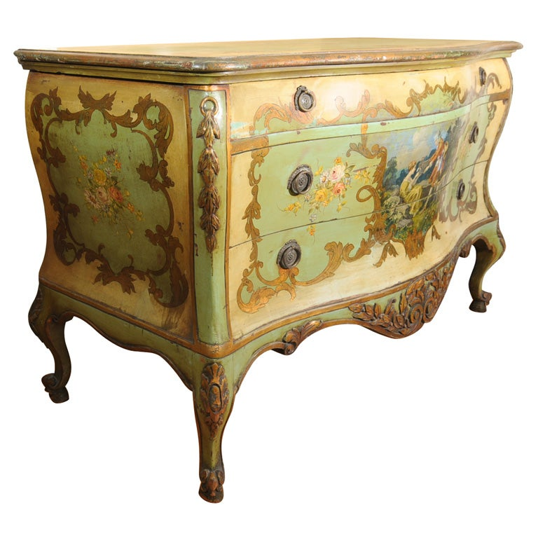 19th Century Venetian Painted Commode