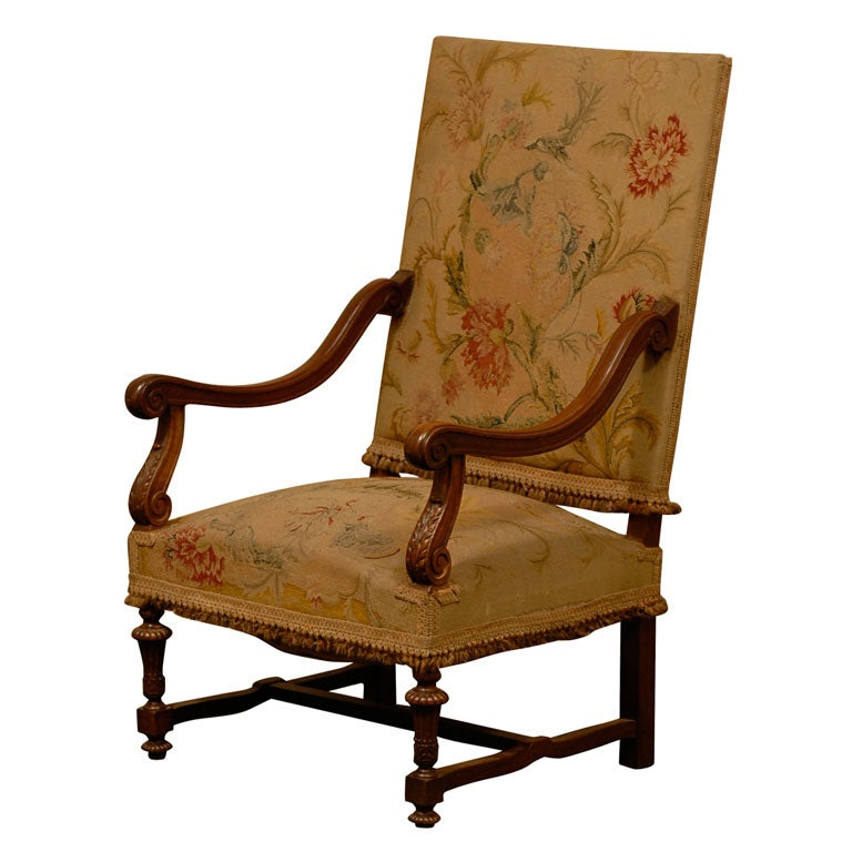 French Louis 14 Style Big Chair At 1stdibs