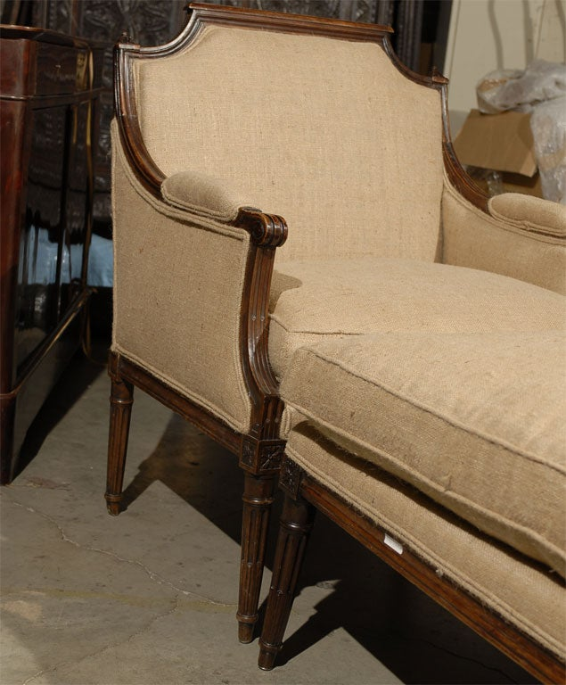 18th century french louis xvi period two piece chaise for Chaises louis xvi occasion