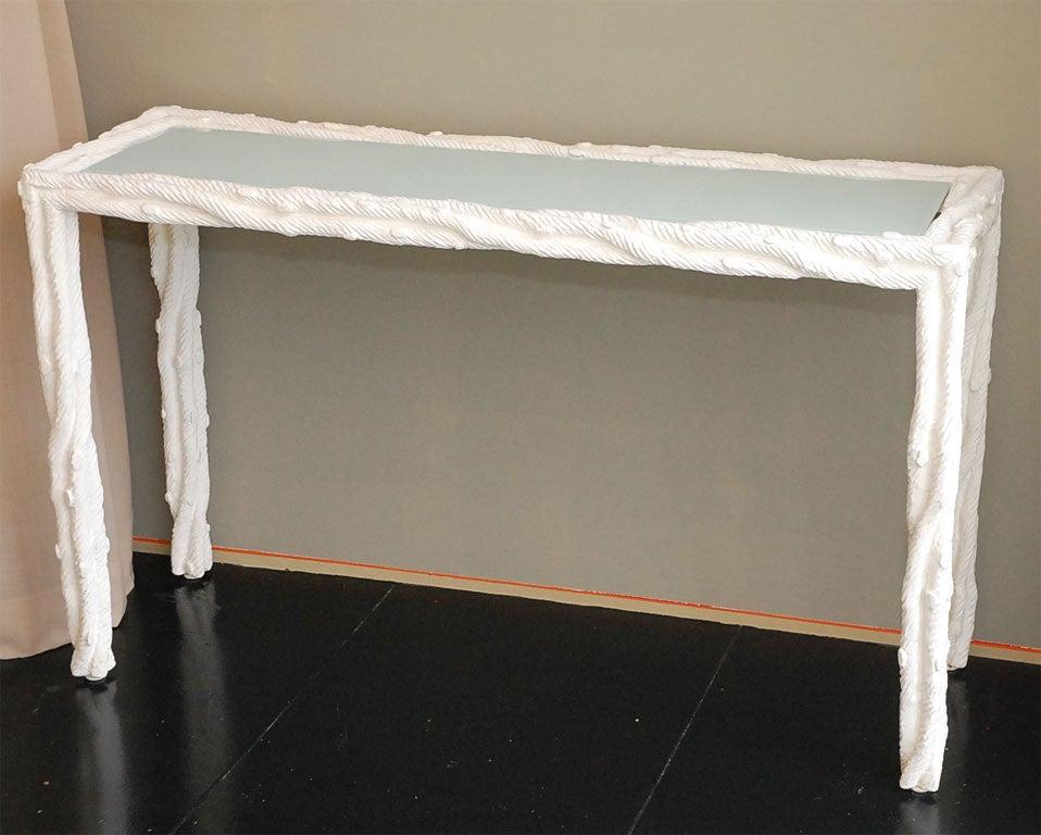 faux bois gesso console at 1stdibs. Black Bedroom Furniture Sets. Home Design Ideas