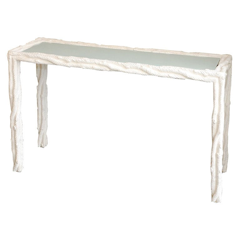 Faux bois gesso console at 1stdibs - Table console bois ...