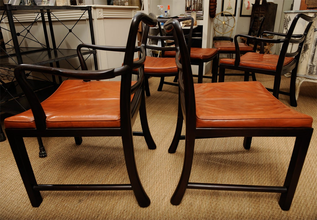 Set of Eight Dining Chairs by Edward Wormley for Dunbar 3