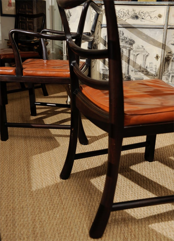 Set of Eight Dining Chairs by Edward Wormley for Dunbar 4