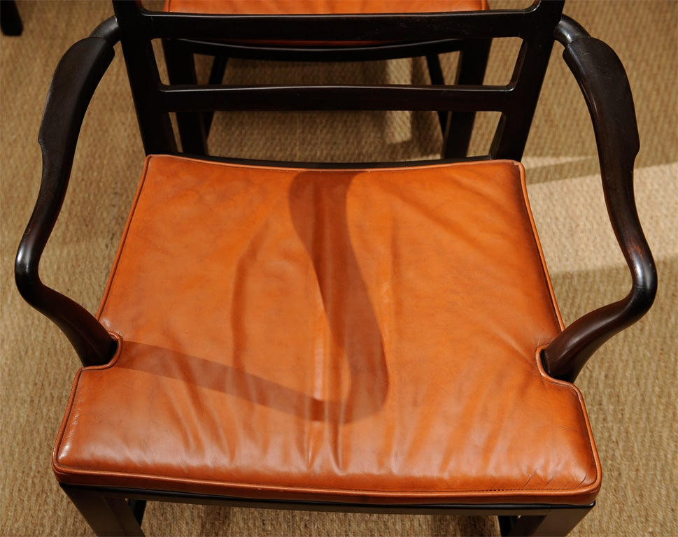 Set of Eight Dining Chairs by Edward Wormley for Dunbar 8