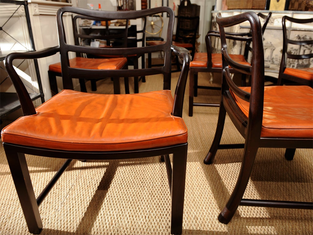 Set of Eight Dining Chairs by Edward Wormley for Dunbar 9
