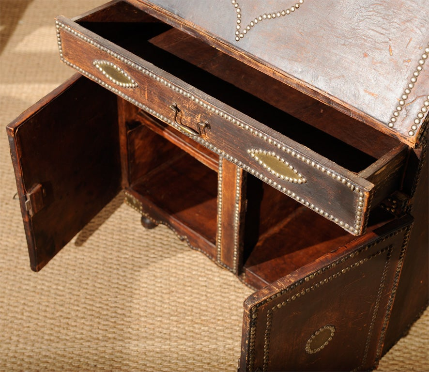 Leather Covered Desk At 1stdibs