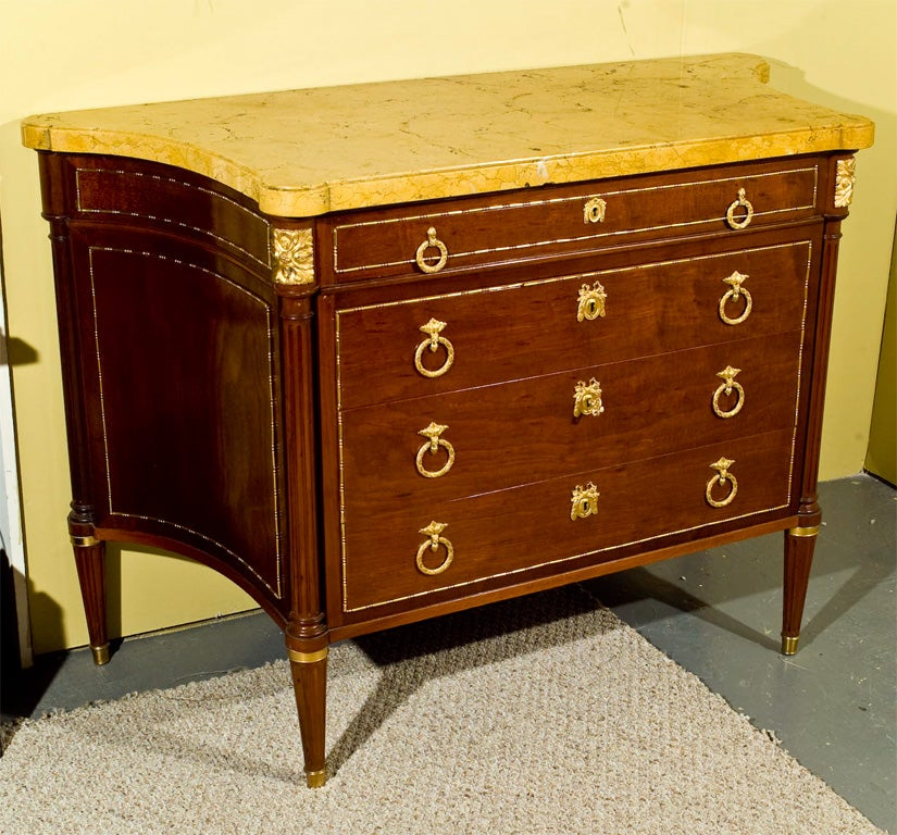 louis xvi style commode signed forest at 1stdibs. Black Bedroom Furniture Sets. Home Design Ideas