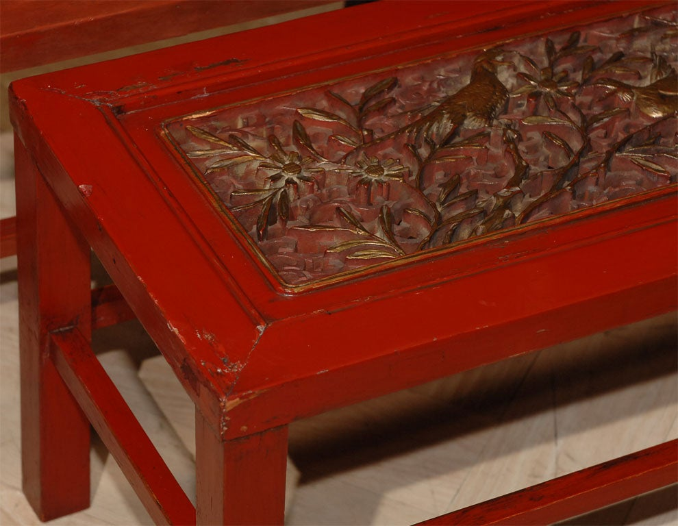 Red Lacquered Chinese Table image 3