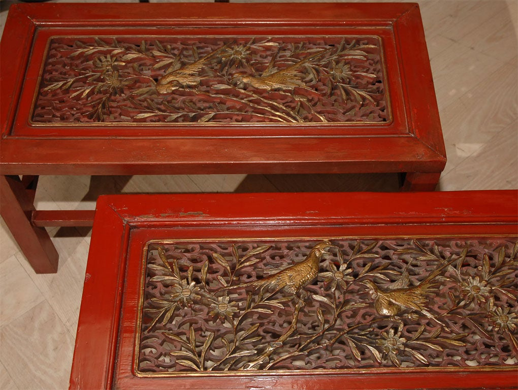 Red Lacquered Chinese Table image 7
