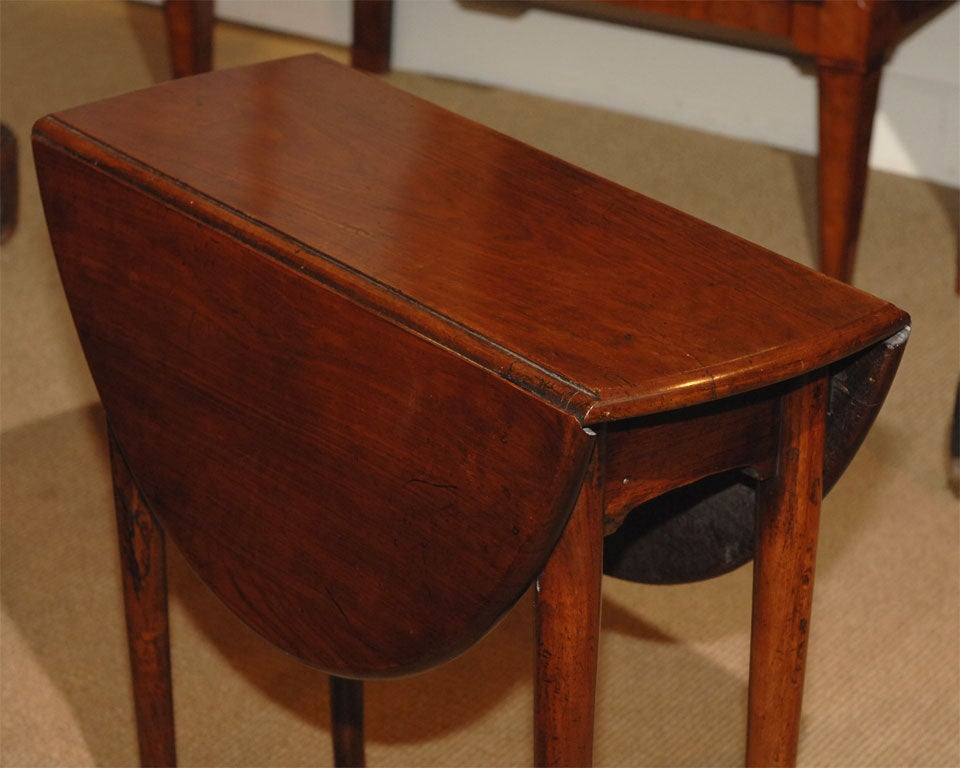 A very small walnut drop leaf table at 1stdibs for Very small side table