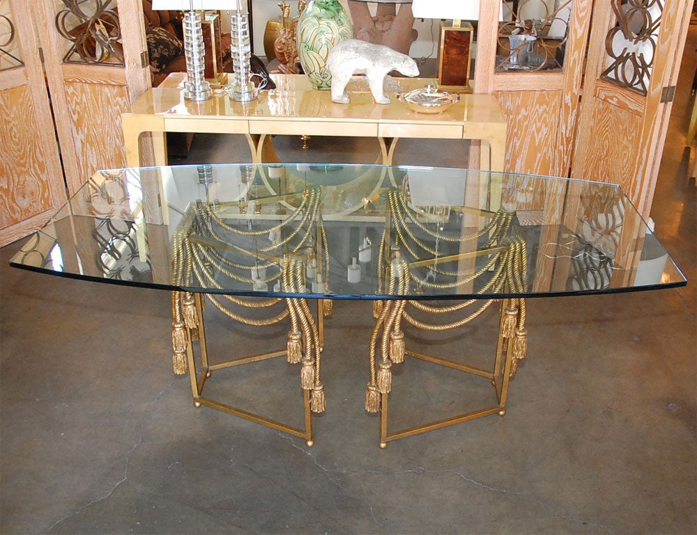 Gilded Rope Dining Table by Edna Cox 2
