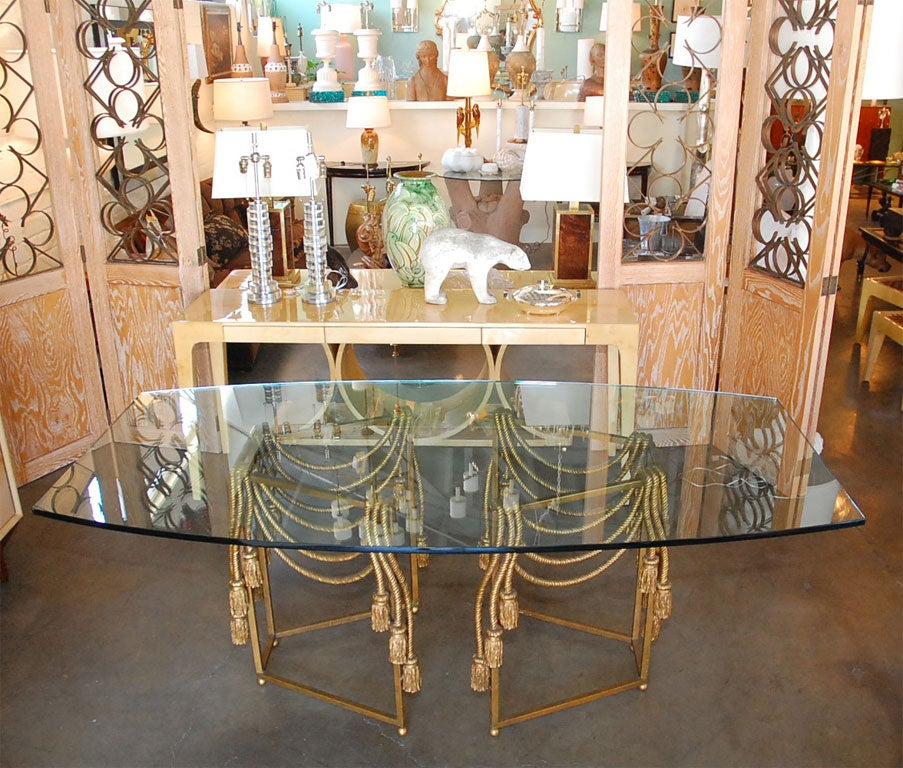 Gilded Rope Dining Table by Edna Cox 3
