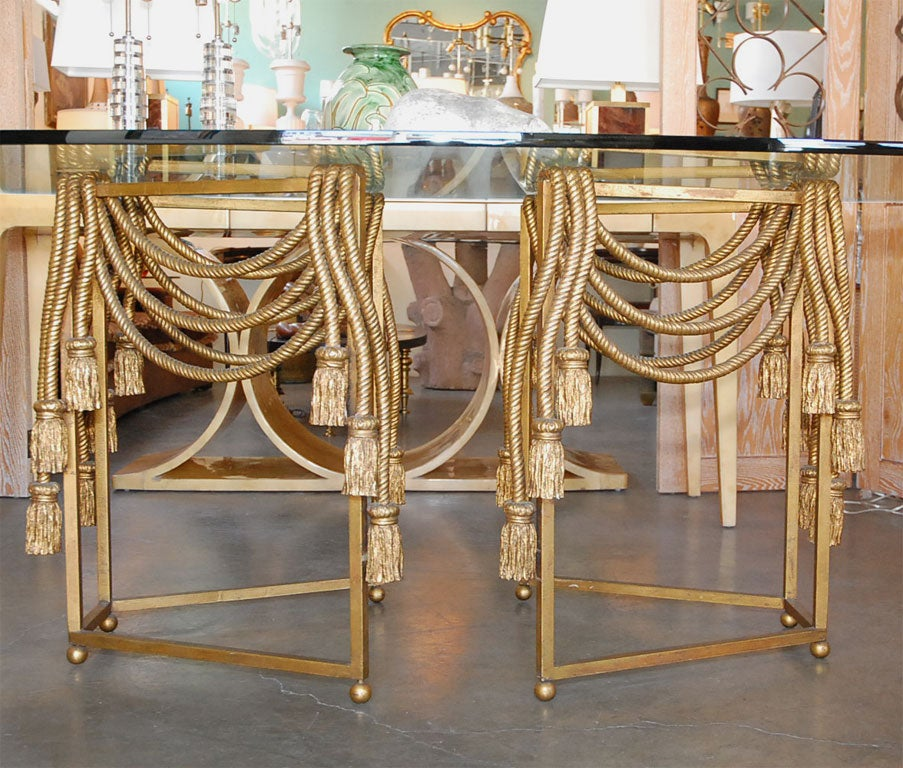 Gilded Rope Dining Table by Edna Cox 4