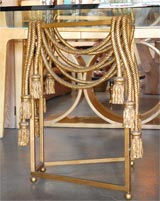 Gilded Rope Dining Table by Edna Cox image 5