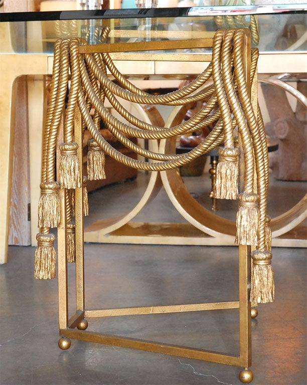 Gilded Rope Dining Table by Edna Cox 5