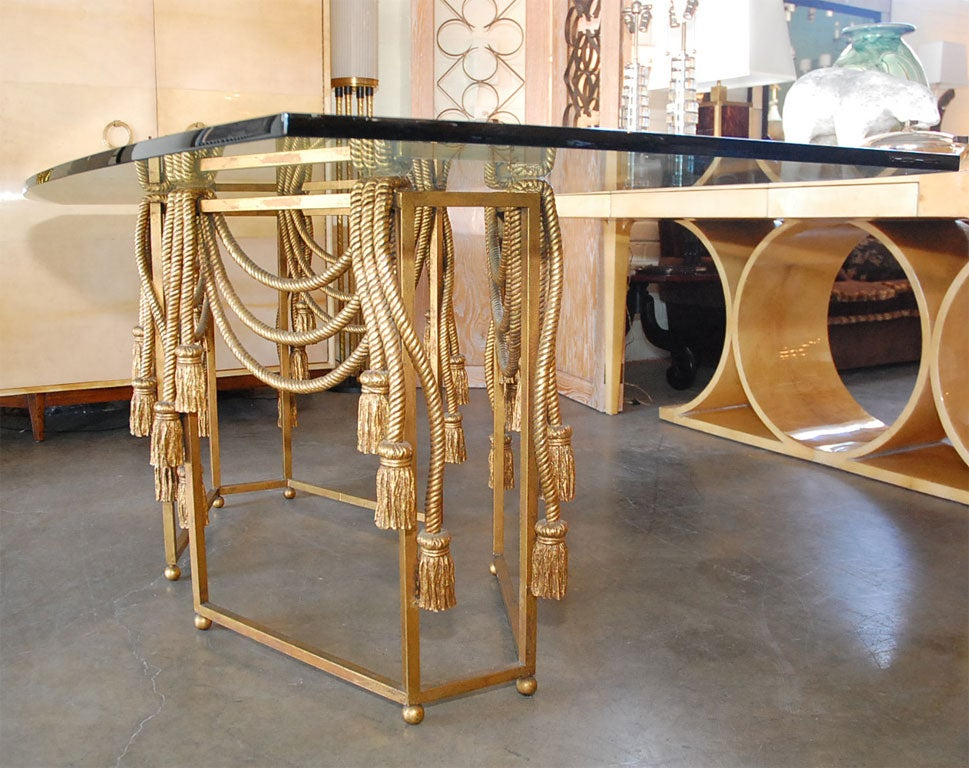 Gilded Rope Dining Table by Edna Cox 7