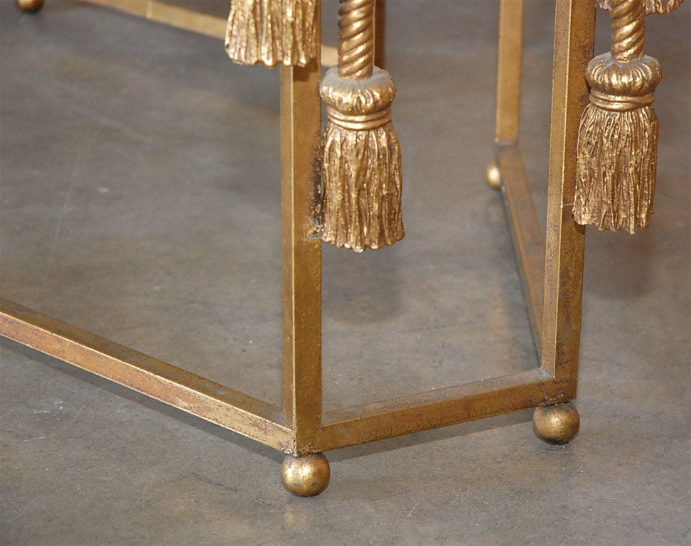 Gilded Rope Dining Table by Edna Cox 8