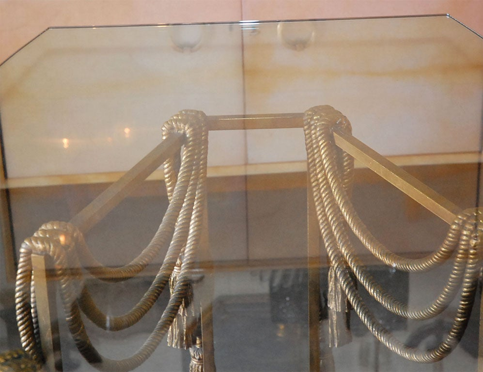 Gilded Rope Dining Table by Edna Cox 10