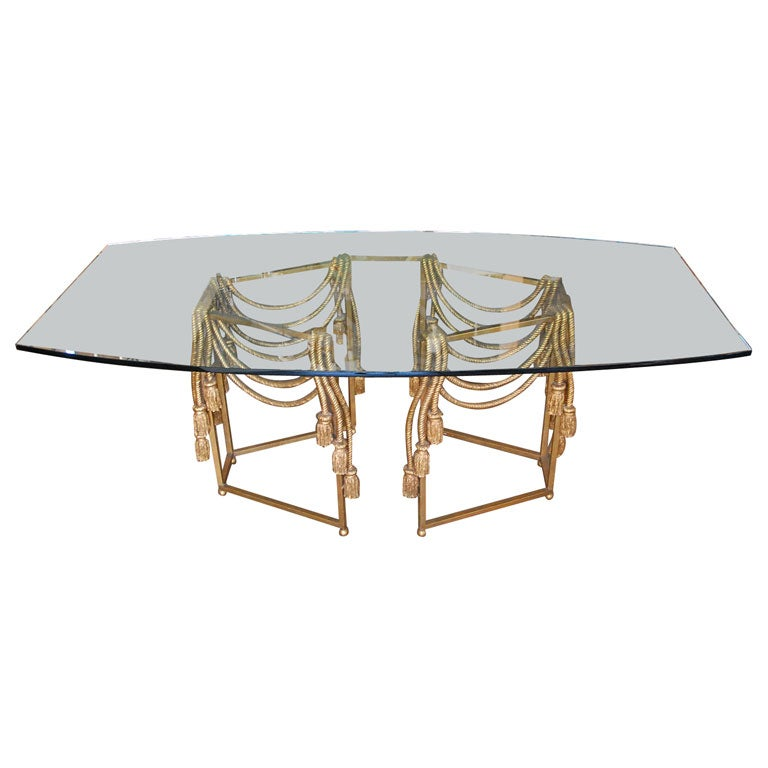 Gilded Rope Dining Table by Edna Cox