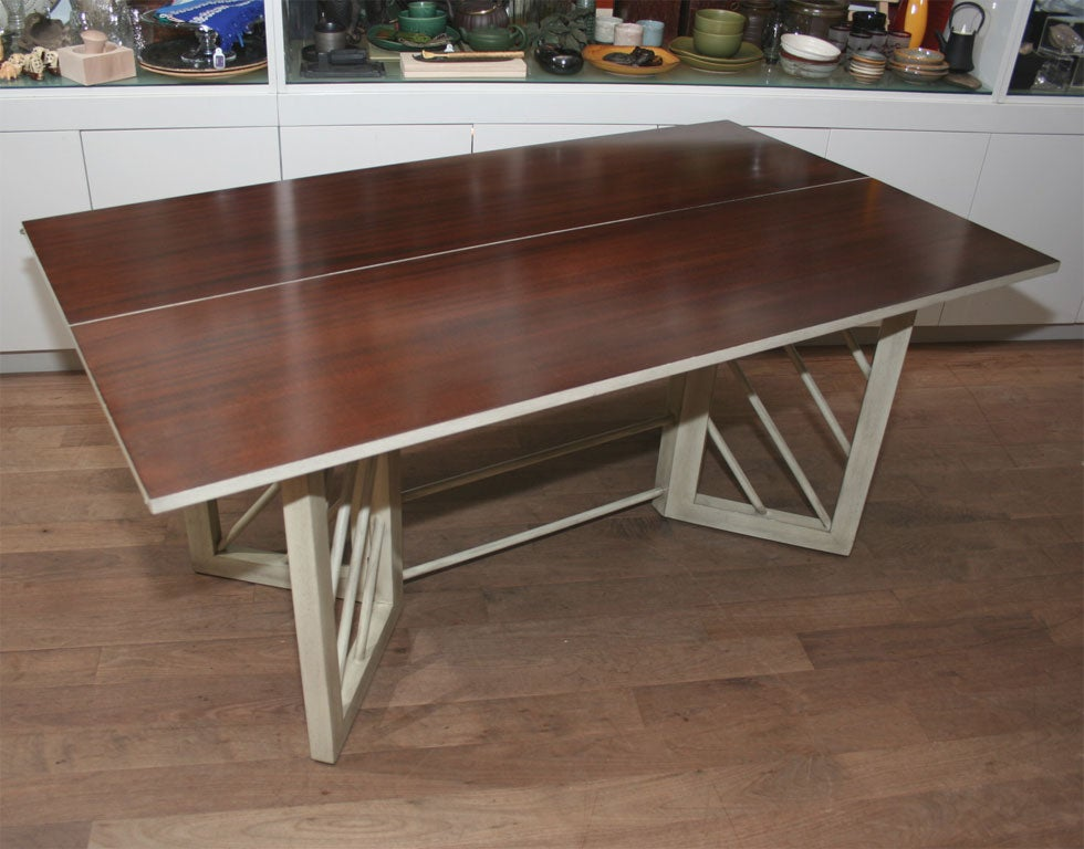 Console to dining table convertible gio ponti convertible console dining table at 1stdibs gio - Console table that converts to dining table ...